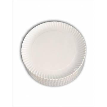 Platos de Cartón Blanco 23 cms (Paq. 100 unds)