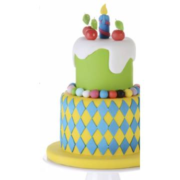 "Fondant Modecor POP ""Blanco (Bloque 1 Kg)"