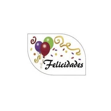 ROTULOS FELICIDADES OBLEA STDOS (CAJA 126 UNDS)