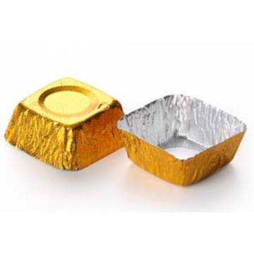 Capsulas Cuadrada Oro...