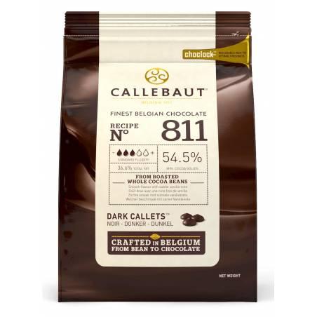 """CHOCOLATE BELGA CALLEBAUT """"NEGRO"""" 54% (BOLSA 1 KG)"""