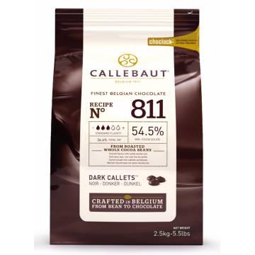 """CHOCOLATE BELGA CALLEBAUT """"NEGRO"""" 54% (B. 2,5 KG)"""