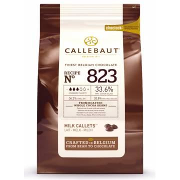 "CHOCOLATE BELGA CALLEBAUT ""LECHE"" 33% (BOLSA 1 KG)"