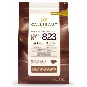 """CHOCOLATE BELGA CALLEBAUT """"LECHE"""" 33% (B. 2,5 KG)"""