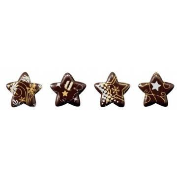 ESTRELLAS DE CHOCOLATE SERIGRAF. (CAJA 96 UNDS)