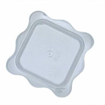 PLATILLO PVC SEMIFRIOS CUADRADO (PAQ. 100 UNDS)