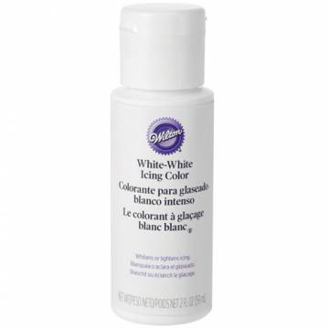 COLORANTE WILTON PARA GLASEADO BLANCO INTENSO 59ML