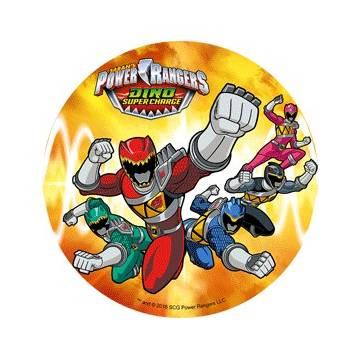 "OBLEA REDONDA ""POWER RANGERS"" 21 CMS (UND)"