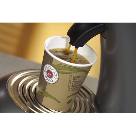 VASO TERMICO DE CARTON CAFÉ 200 ML (PAQ. 50 UNDS)
