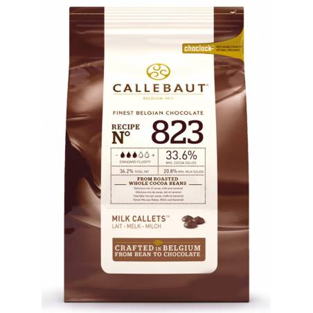 "CHOCOLATE BELGA CALLEBAUT ""LECHE"" 33% (SACO 10 KG)"
