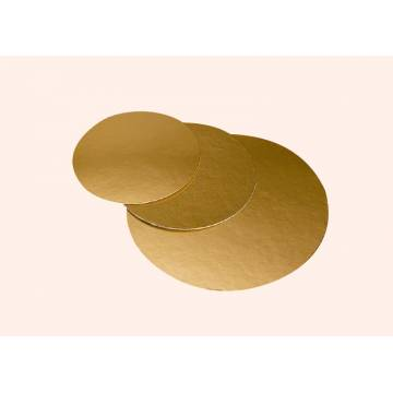 Disco De Cartón Oro 22 cms (Und)