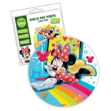 "DISCO SIN AZUCAR COMESTIBLE ""MINNIE"" 18,5 CMS (UND"