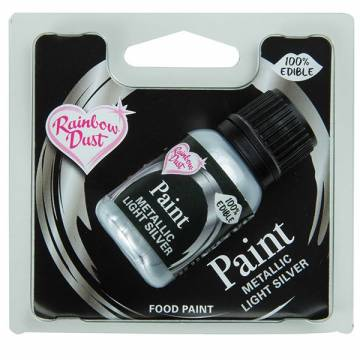 "RAINBOW PINTURA METALICA ""PLATA"" (25 ML)"