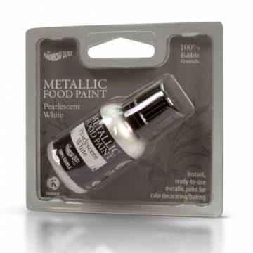 "RAINBOW PINTURA METALICA ""BLANCO METALICO"" (25 ML)"