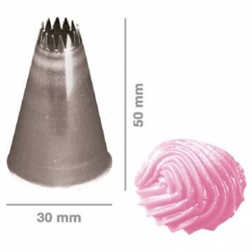 BOQUILLA INOX. RIZADA 9 MM (UND)