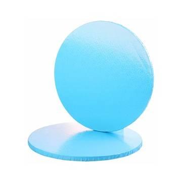 Base Azul Lunares blancos 30 cms. (Und)