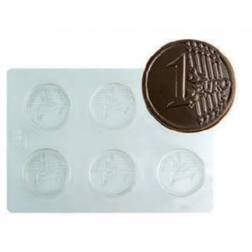 MOLDE PLASTICO MONEDAS EURO...