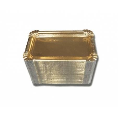 Bandejas Oro Cuadradas Nº4 14X21 (100 Und)