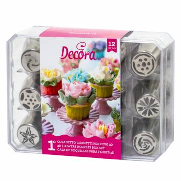 DECORA SET BOQUILLAS FLORES...
