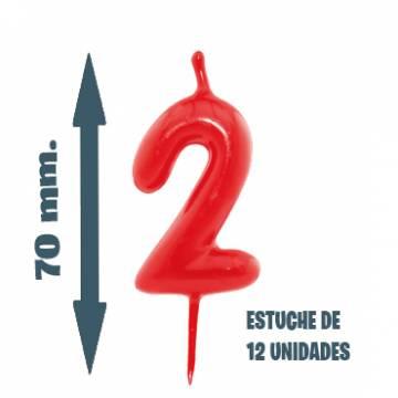 Velas Pastel Nº 2 (12 ud)