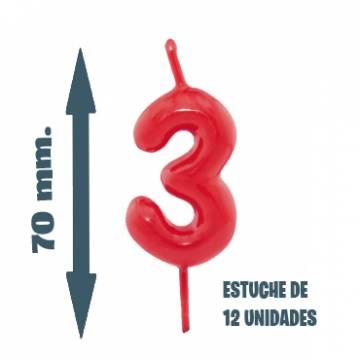 Velas Pastel Nº 3 (12 ud)
