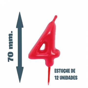 Velas Pastel Nº 4 (12 ud)