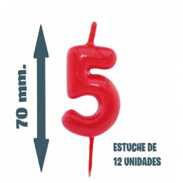 Velas Pastel Nº 5 (12 ud)