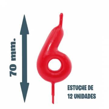 Velas Pastel Nº 6 (12 ud)
