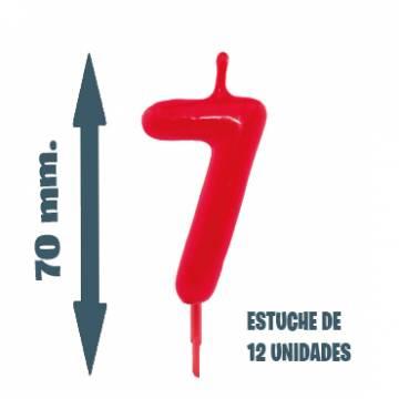Velas Pastel Nº 7(12 ud)