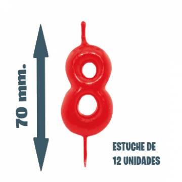 Velas Pastel Nº 8 (12 ud)