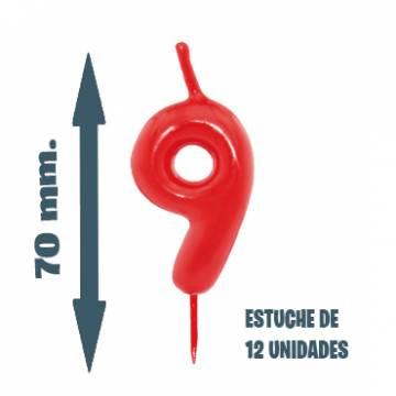 Velas Pastel Nº 9 (12 ud)
