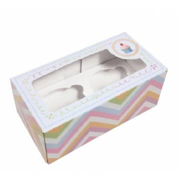 "Caja Cupcake Box Rosa ""2"" +..."
