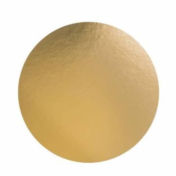 Disco De Cartón Oro 24 cms...