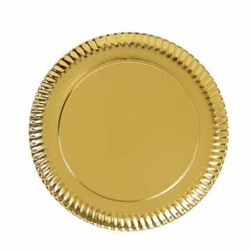 Plato cartón Oro 25 cms...