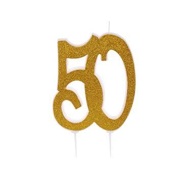 VELA GLITTER ORO 50...